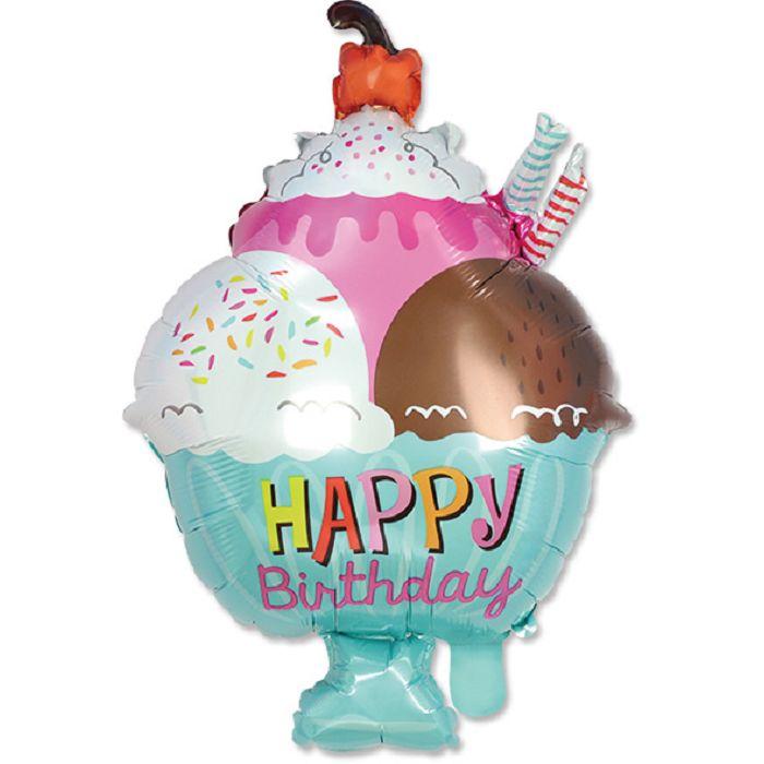 【珠友】派對佈置-鋁箔生日冰淇淋氣球