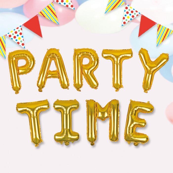 派對佈置-鋁箔金色英文字母氣球-B