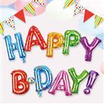 派對佈置-鋁箔HAPPYB-DAY氣球-小