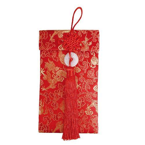 節慶系列-流蘇錦緞布紅包-金龍