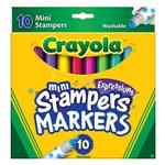 Crayola繪兒樂 可水洗迷你印章色筆10色
