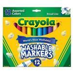 Crayola繪兒樂 可水洗粗頭彩色筆12色