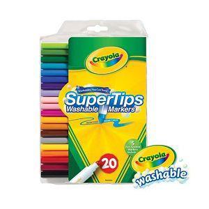 Crayola繪兒樂 可水洗細桿彩色筆20色