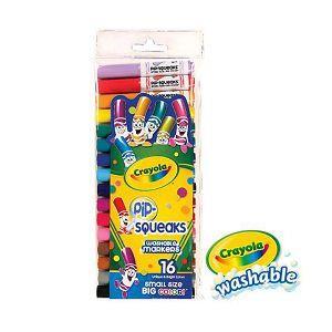 Crayola繪兒樂 可水洗短桿粗頭彩色筆16色