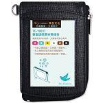 【珠友】雙面透明票夾零錢包/F黑
