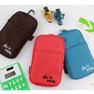 輕便收納手機包(小)附登山扣(共6色)-B紅