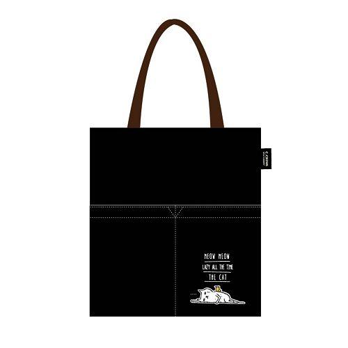 【青青】簡單生活-喵Meow側背包-黑