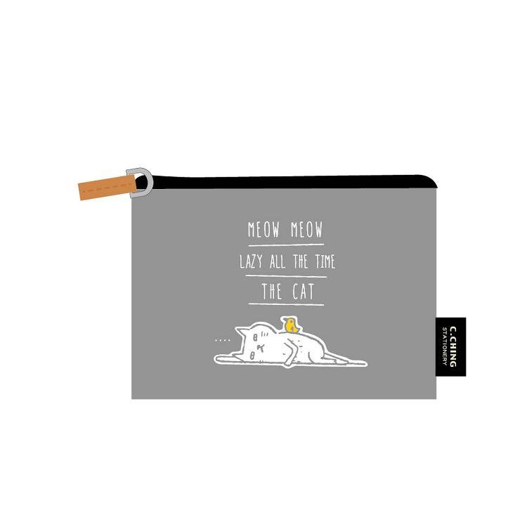 【青青】簡單生活-喵Meow票卡零錢包-灰