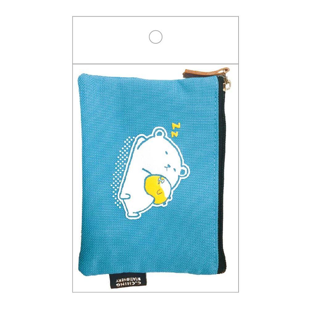 萌ZOO-票卡零錢包-水藍