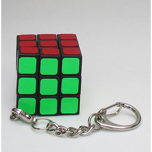 3階魔術方塊鑰匙圈黑色(銀色扣)