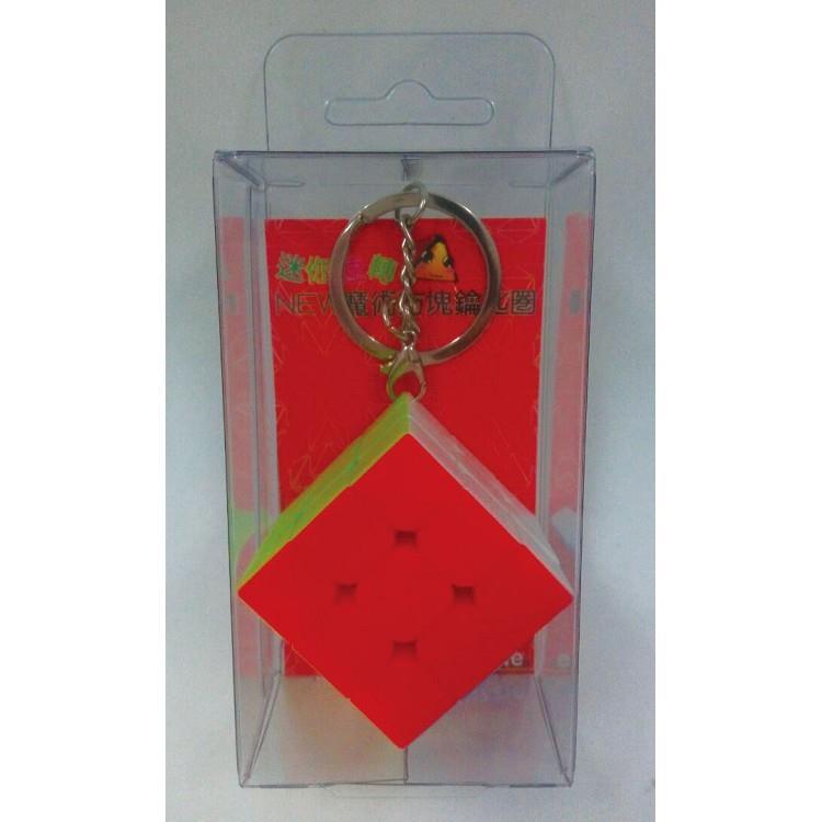 3.5cm 3階魔術方塊鑰匙圈六色無貼紙(銀色環)