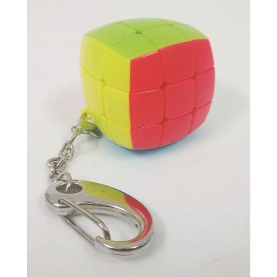 3.0cm 3階魔術方塊圓弧形鑰匙圈(銀色扣)