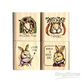 《Micia》四入印章組-古典兔