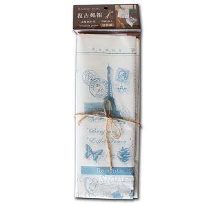油蠟材質郵報包裝紙(藍)