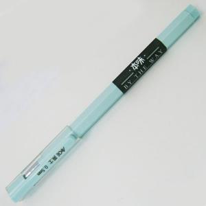 英士J-404極細六角桿0.5中性筆-綠桿藍