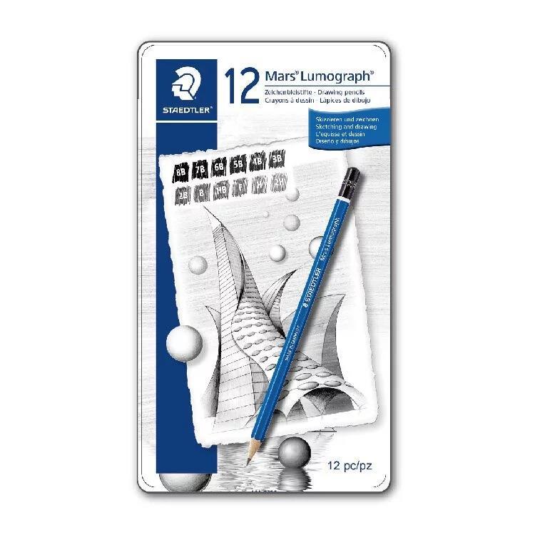 【施德樓】Mars頂級藍桿繪圖鉛筆-12支組