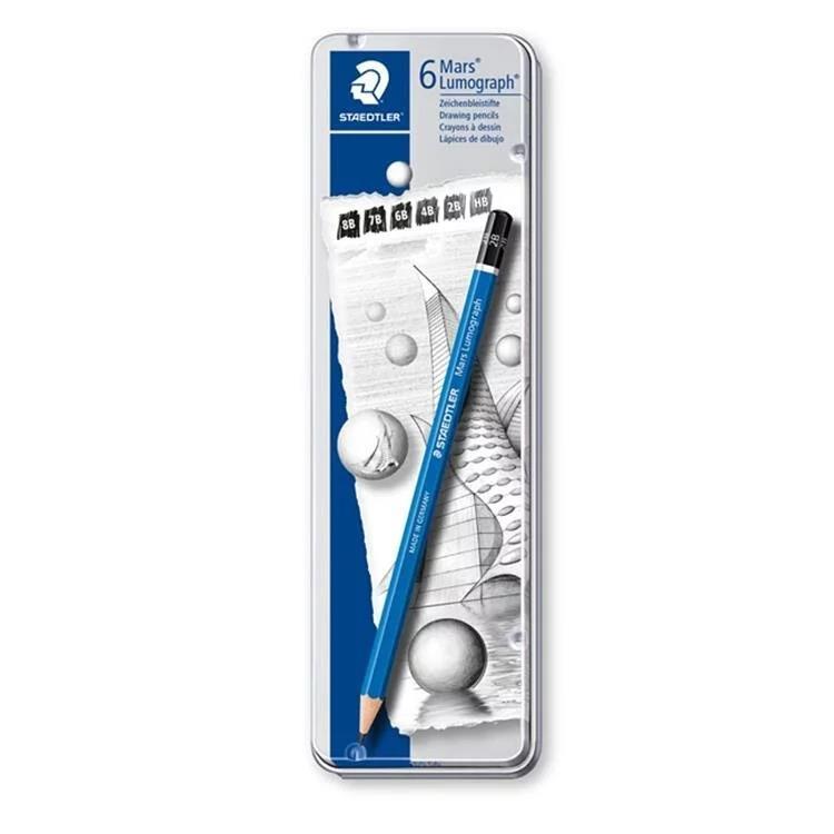 【施德樓】Mars頂級藍桿繪圖鉛筆-6支組