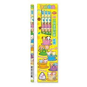 【利百代】可愛家族三角塗頭鉛筆-HB