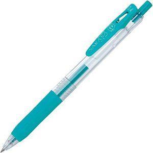 【ZEBRA】斑馬SARASA CLIP環保鋼珠筆0.4-藍綠 (JJS15適用JF-0.4筆芯)