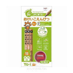 【TOMBOW】YO-i兒童學習大三角鉛筆組-6B