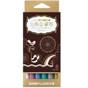 雄獅 0.7水燦金屬筆盒裝(6色入)