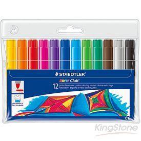 【施德樓】快樂學園加寬型環保彩繪筆-12色組