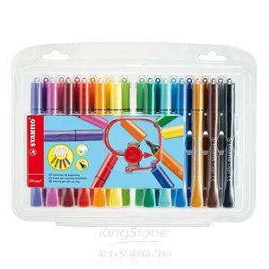 【STABILO】德國天鵝牌Cappi人體工學設計彈性筆頭彩色筆組(1組共24支入)