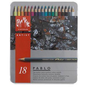 CARAN d`ACHE PABLO專家級油性色鉛18色