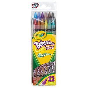 Crayola繪兒樂 旋轉彩色鉛筆12色