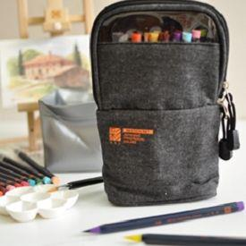 【AKASHIYA】(彩SAI)日本彩繪毛筆戶外寫生包-灰黑