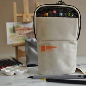 【AKASHIYA】(彩SAI)日本彩繪毛筆戶外寫生包-米白