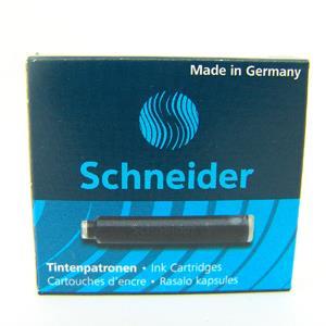 Schneider施奈德鋼筆卡式墨水管6入(歐規)-黑