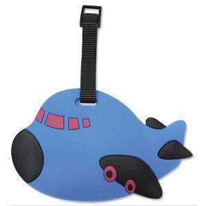 造型行李吊牌-飛機-B藍