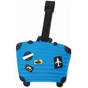 造型行李吊牌-行李箱-B藍