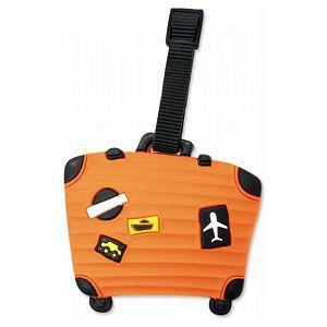 造型行李吊牌-行李箱-F橘