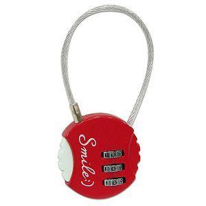 圓形密碼鎖-紅笑