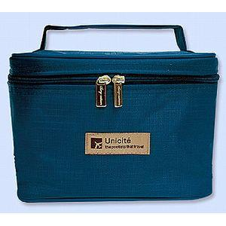 立體收納桶包/E深藍-Unicite