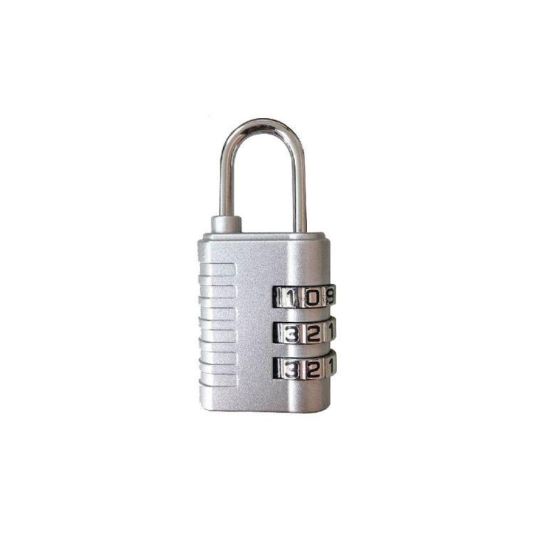 【青青】簡單生活-密碼鎖簡約3碼-銀
