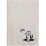 【珠友】布麻帆護照套-鉛筆貓