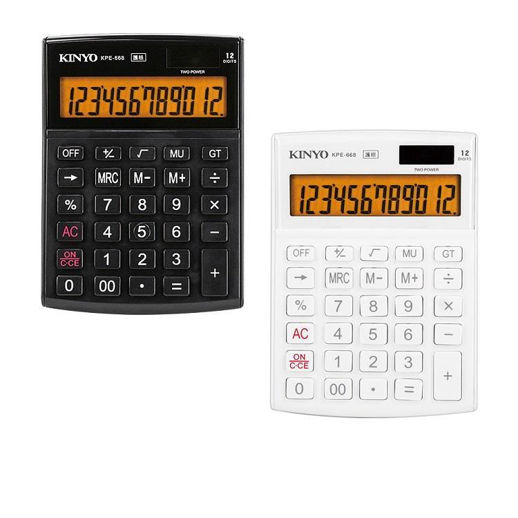 【KINYO】KPE-668 12位元計算機