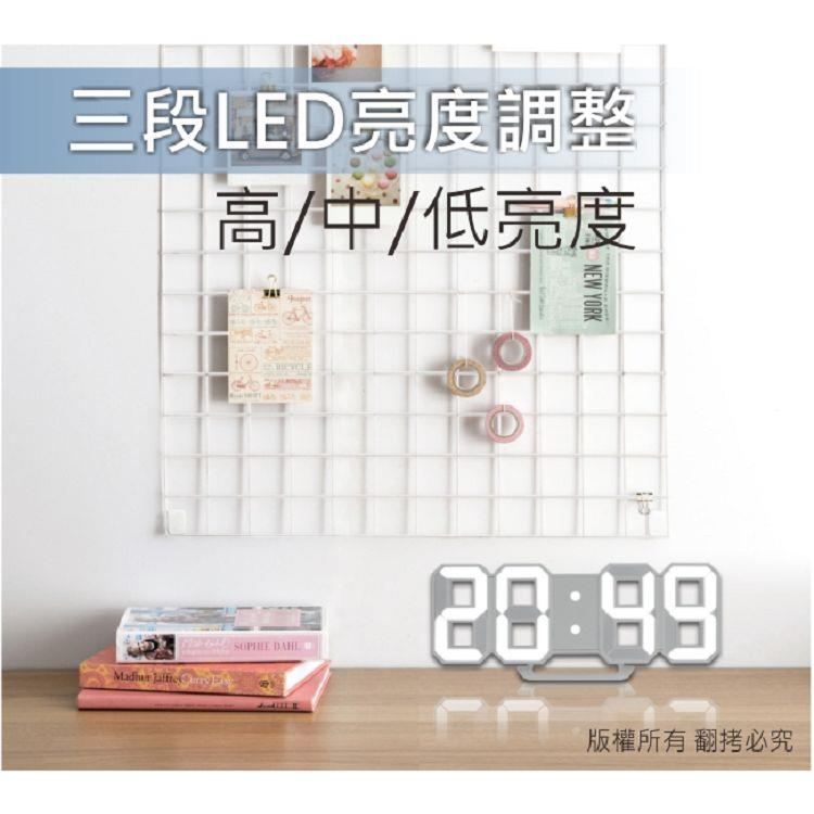 【KINYO】TD395 LED立體數字鐘