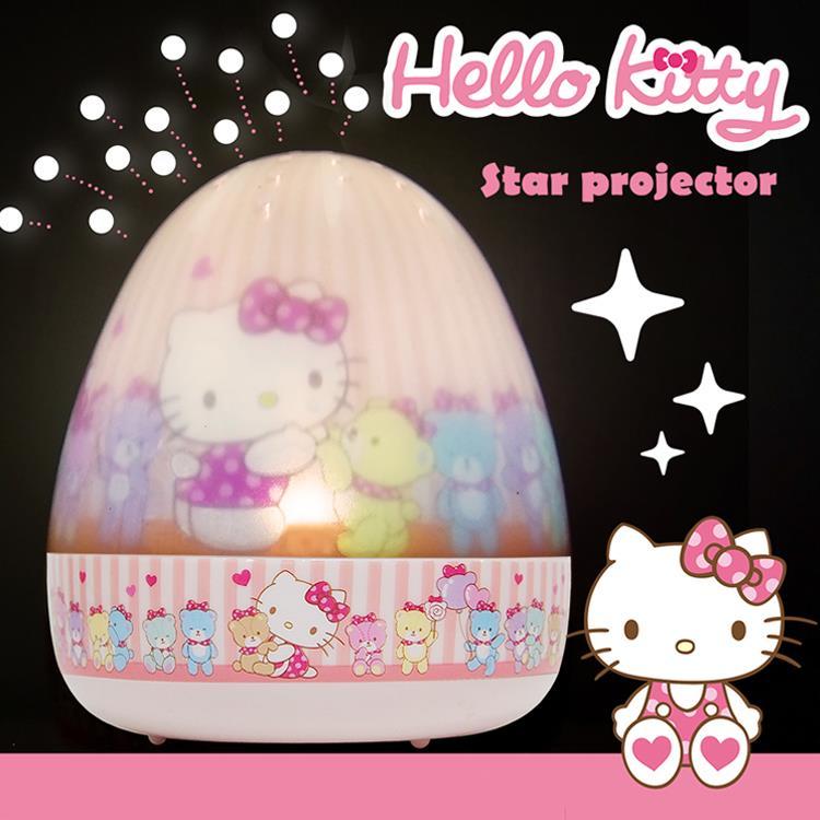 Lumitusi- Hello Kitty 旋轉走馬點點夜燈- 附音樂功能