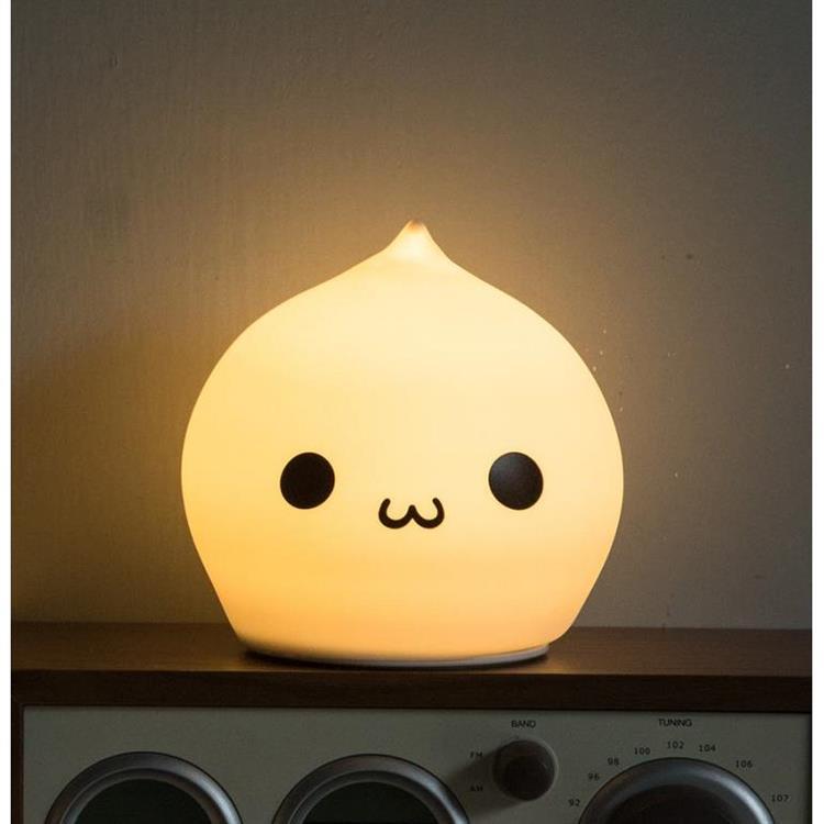 USERWATS 包子七彩LED互動小夜燈-充電款