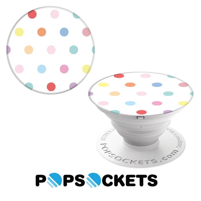 【PopSockets 泡泡騷】美國 No.1 時尚多功能手機支架 - 點點普普風