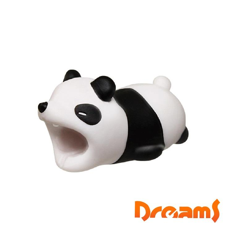 Dreams iphone專用咬線器 慵懶動物園 被揍的熊貓