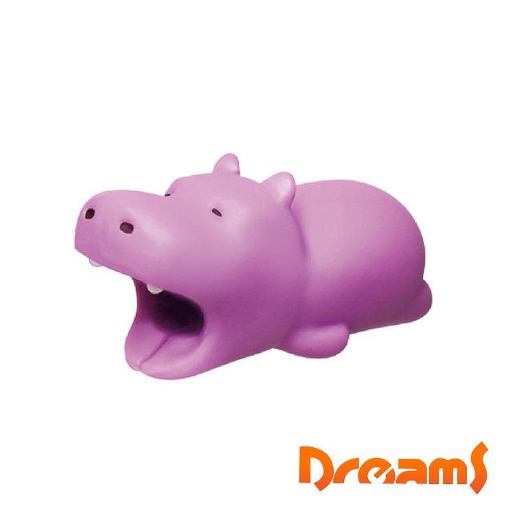 Dreams iphone專用咬線器 慵懶動物園 超耍廢河馬