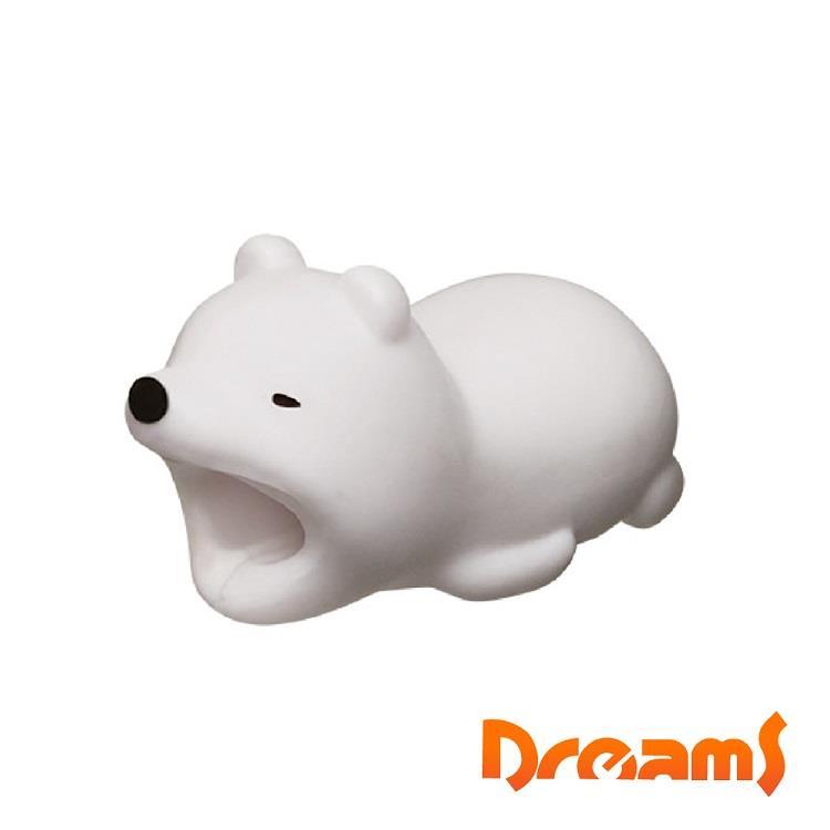 Dreams iphone專用咬線器 慵懶動物園 冬眠北極熊