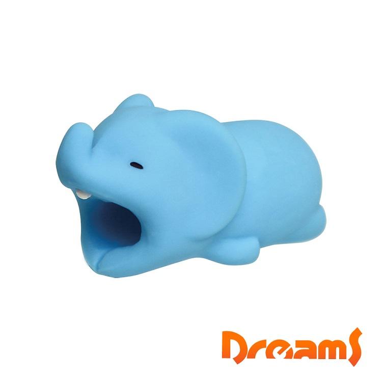 Dreams iphone專用咬線器 慵懶動物園II 不洗澡大象