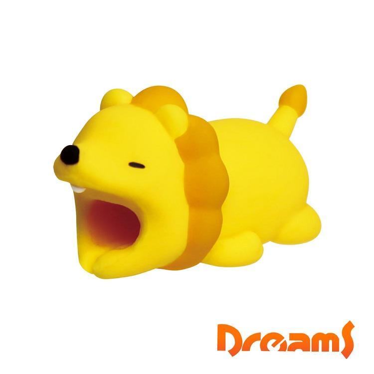 Dreams iphone專用咬線器 慵懶動物園II 吃甜食獅子
