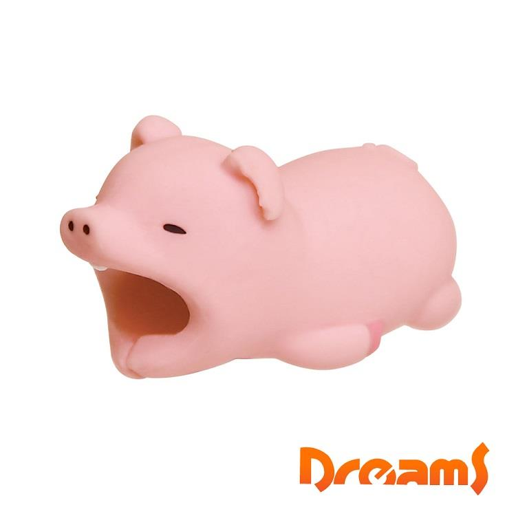 Dreams iphone專用咬線器 慵懶動物園II 貪吃小胖豬